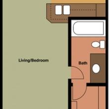 Studio 2D Floor Plan