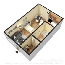 Studio 3D Floor Plan