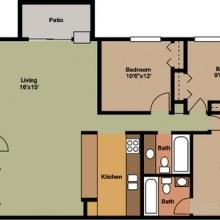 3BR 2D Floor Plan