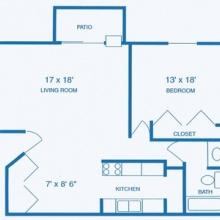 1BR EXT Floor Plan