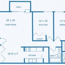 2BR EXT Floor Plan